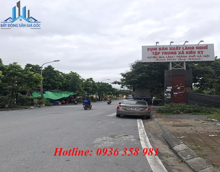 Cần bán 56,5m2 đất thôn Kiêu Kỵ, Gia Lâm, Hà Nội, vị trí cực ký sầm uất.