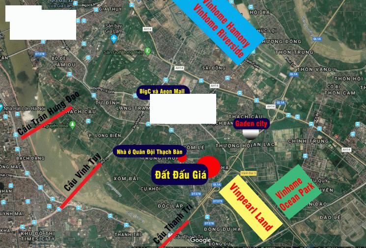 Cần bán đất phân lô tại Xóm 1 Đông Dư, Gia Lâm, Hà Nội. Cách cầu Thanh Trì 20m