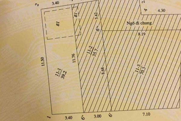 Đất nền 35m2, hướng Tây